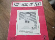 VINTAGE ORIGINAL SHEET MUSIC 1954 THE STORY OF TINA JAN ROSOL KATRIVANOU HASSALL